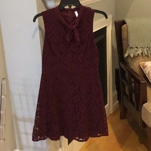 Never worn! Burgundy lace dress